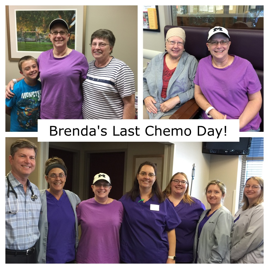 Brenda Allen Stage2 Breast Cancer Survivor Last Chemo