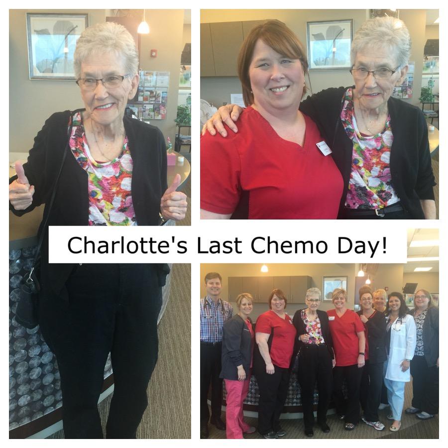 Last Chemo Day for Charlotte Hiatt