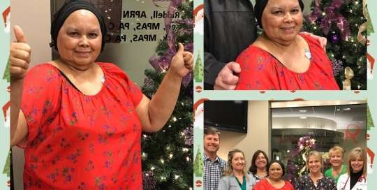 Maria-Hanson-Stage2-Breast-Cancer-Survivor-Last-Chemo