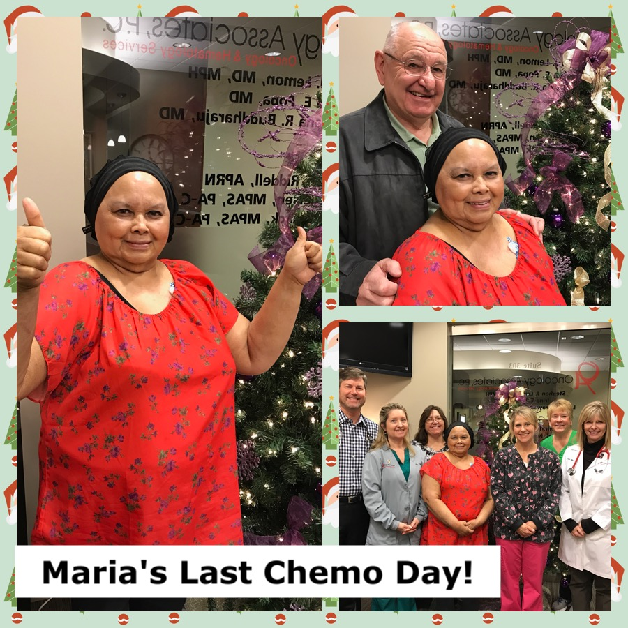 Last Chemo Day for Maria Hanson Stage2 Breast Cancer Survivor