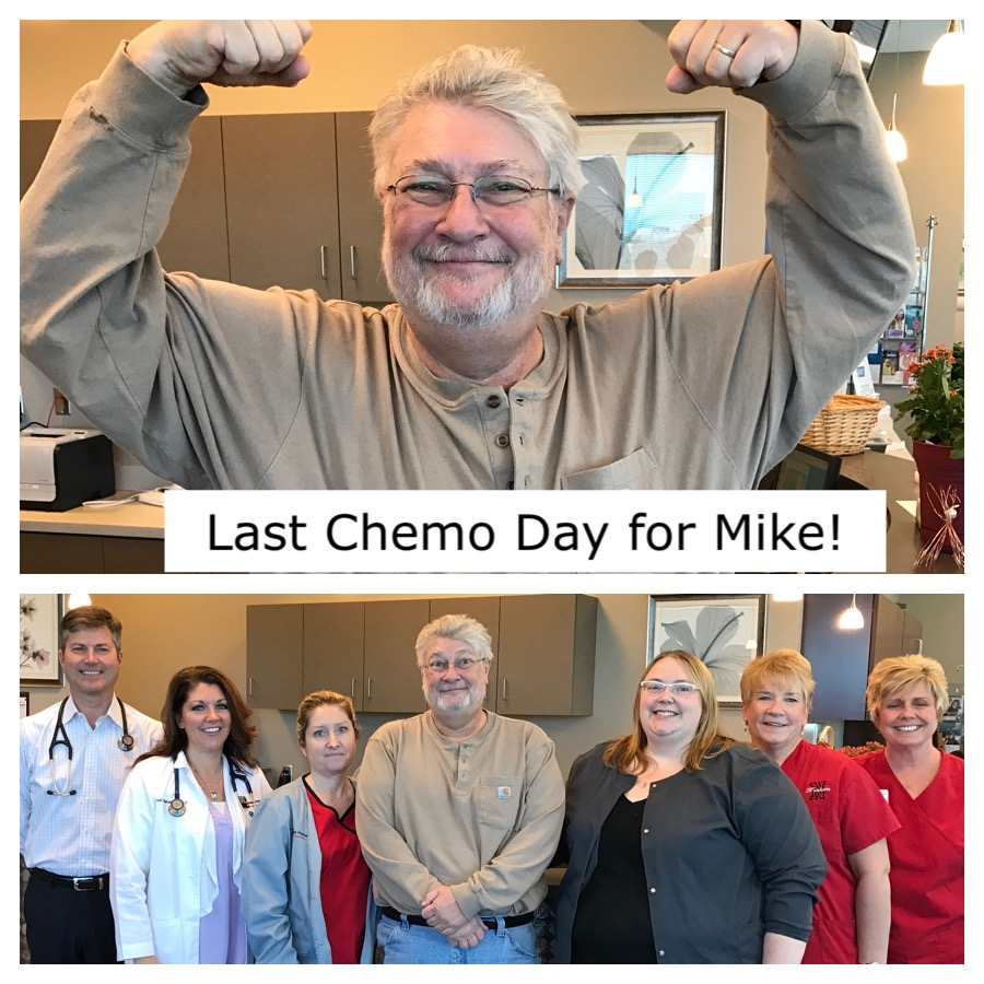 Last Chemo Day for Mike Catherwood Stage2 Breast Cancer Survivor